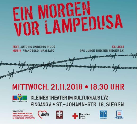 Lampedusa, AG Wohlfahrt, Siegen, Awo, Caritas