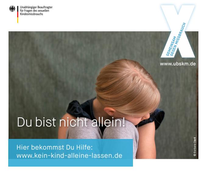 Kindesmissbrauch, www.kein-kind-alleine-lassen.de
