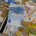 Geldschein, Geldkarten, Münzen