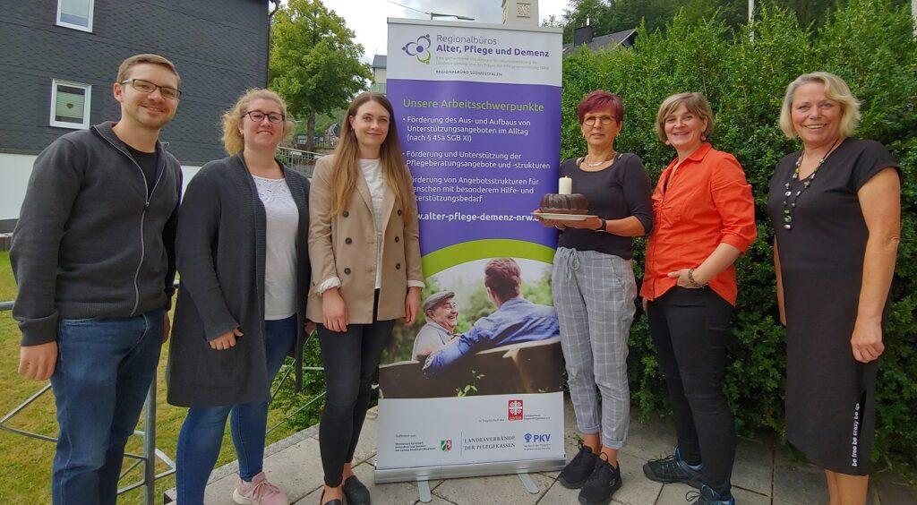 Gruppenfoto des Regionalbüros Alter, Pflege und Demenz Südwestfalen