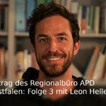 Portrait von Leon Hellermann mit Schriftzug Hörbeitrag.