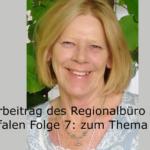 Portrait von Annette Wernke mit Schriftzug vom Hörbeitrag.