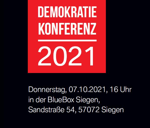 Ausstieg aus dem Rechtsextremismus – Demokratiekonferenz 2021 findet als Präsenzveranstaltung statt